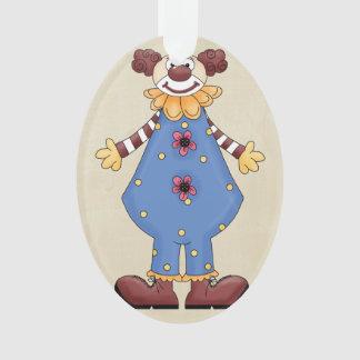 Payaso de circo colorido retro