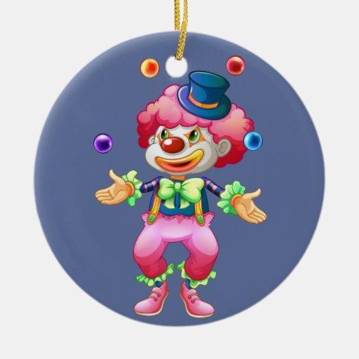 Payaso de circo colorido retro del fiesta de la ornato