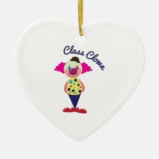 Payaso de clase ornaments para arbol de navidad