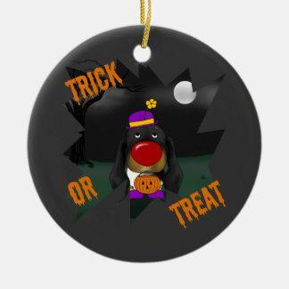 Payaso de Halloween del Dachshund Ornamento De Navidad