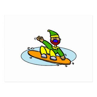 Payaso de la snowboard postal