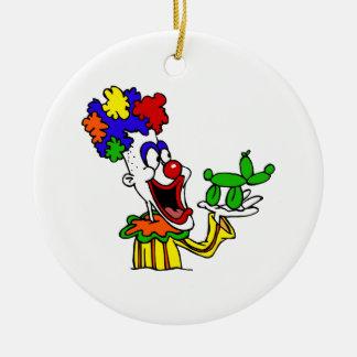 Payaso del animal del globo adornos de navidad