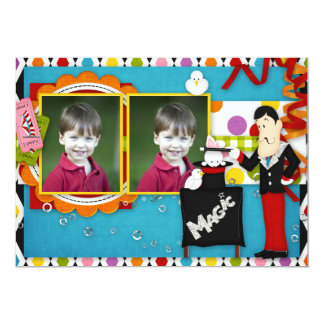 Payaso del cumpleaños invitación 12,7 x 17,8 cm