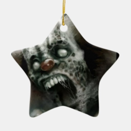 payaso del zombi ornamentos de navidad