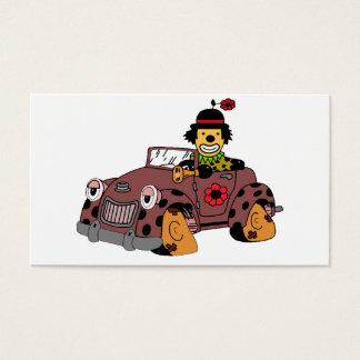 Payaso en coche tarjeta de visita
