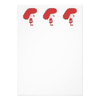 Payaso en rojo y blanco Historieta