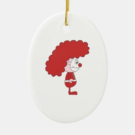 Payaso en rojo y blanco. Historieta Adornos De Navidad