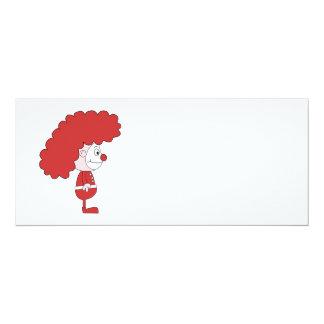 Payaso en rojo y blanco. Historieta Anuncios