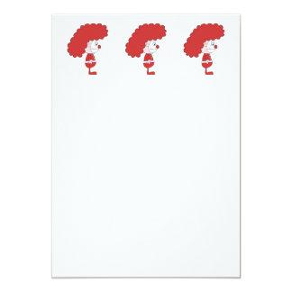 Payaso en rojo y blanco. Historieta Comunicado Personal