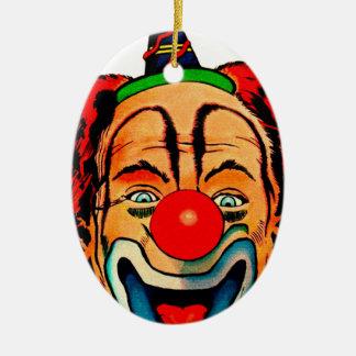 Payaso loco del vintage ornamento de navidad
