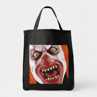 Payaso macabro bolsa tela para la compra