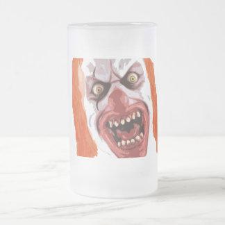 Payaso macabro taza de cristal