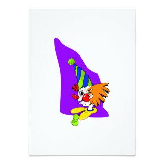 Payaso puntiagudo del gorra invitación 12,7 x 17,8 cm