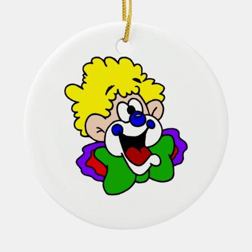 Payaso torpe de la sonrisa ornamento de navidad
