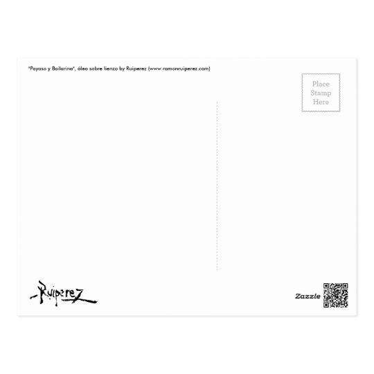 """""""Payaso y Bailarina"""" by Ruiperez (Postal) Postal"""