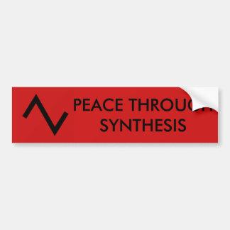 Paz a través del pegatina de la síntesis