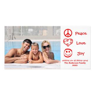 Paz, amor, alegría - Photocard Tarjetas Fotográficas