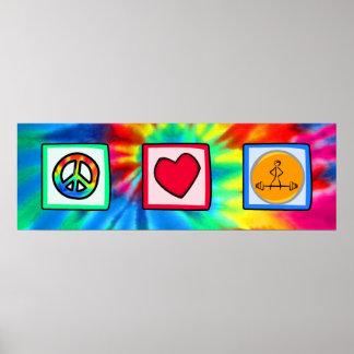 Paz, amor, Bodybuilding Póster