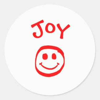 Paz, amor, cara sonriente de la alegría - pegatina