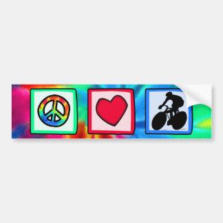 Paz, amor, completando un ciclo pegatina para coche