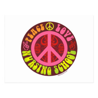 Paz, amor, escuela de enfermería postal
