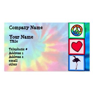 Paz, amor, flamencos tarjetas de visita