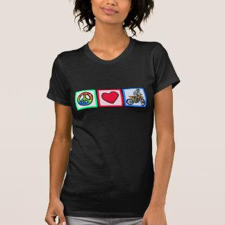 Paz, amor, motocrós camiseta