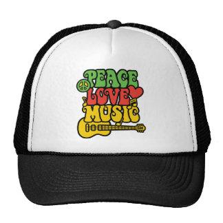 Paz-Amor-Música de Rasta Gorro