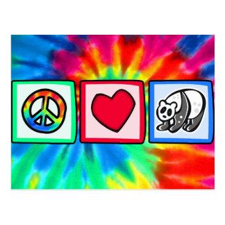Paz, amor, pandas postal