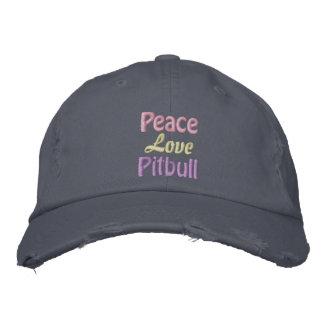 Paz, amor, Pitbull, BSL anti Gorras Bordadas