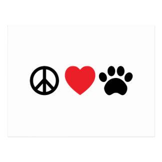 Paz, amor, postal de la pata