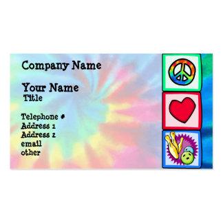 Paz, amor, rodando tarjetas de visita