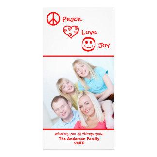 Paz, amor, vertical de la alegría - Photocard Tarjeta