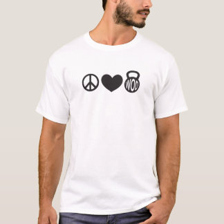 "Paz, amor y camiseta de la aptitud de WOD"""