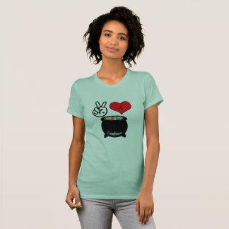 Paz, amor, y camiseta del Gumbo