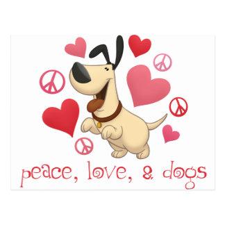 Paz amor y perros postales