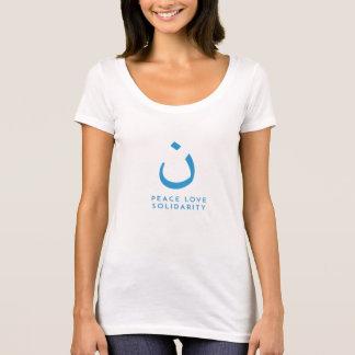 Paz, amor y solidaridad camiseta
