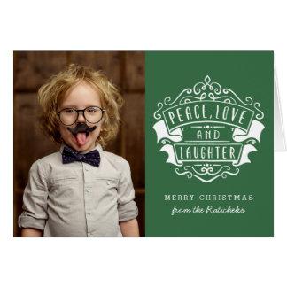 Paz, amor, y tarjeta de felicitación del navidad