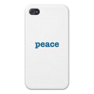 Paz (azul) iPhone 4/4S carcasas