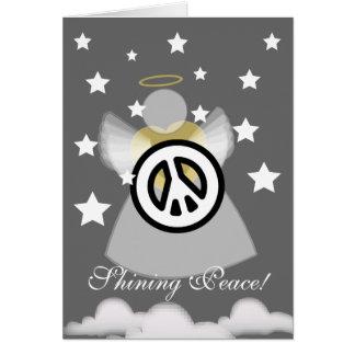 ¡Paz brillante! El regalo gracioso de dios - perso Tarjeton
