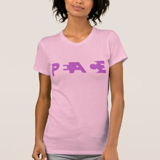 Paz cortada camisetas