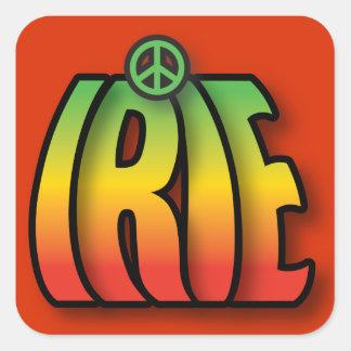 Paz de IRIE Colcomanias Cuadradas Personalizadas