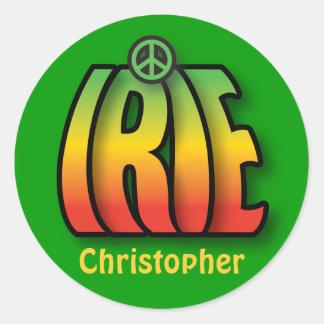Paz de IRIE Pegatinas Redondas