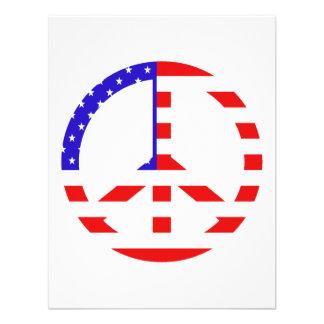 Paz de la bandera americana comunicado personalizado