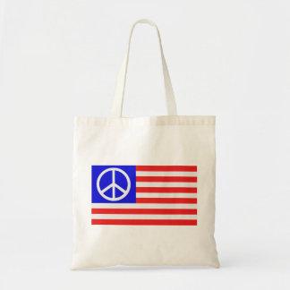 Paz de la bandera de los E.E.U.U. Bolsa De Mano