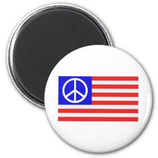 Paz de la bandera de los E.E.U.U. Imán