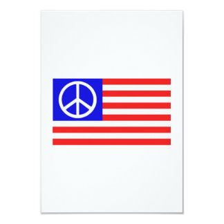 Paz de la bandera de los E.E.U.U. Invitación 8,9 X 12,7 Cm