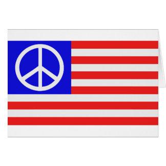 Paz de la bandera de los E E U U Felicitacion