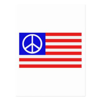 Paz de la bandera de los E E U U Postal