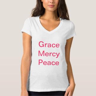 Paz de la misericordia de la tolerancia camiseta